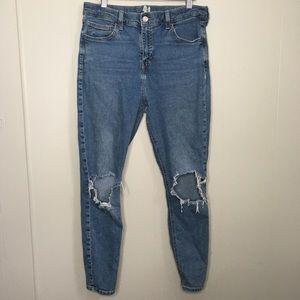 TopShop Moto Jamie Skinny High Rise Jeans